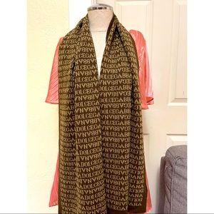 DOLCE & GABBANA reversible scarf in brown